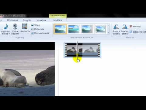 Tagliare uno spezzone di video al suo interno usando Windows Live Movie Maker