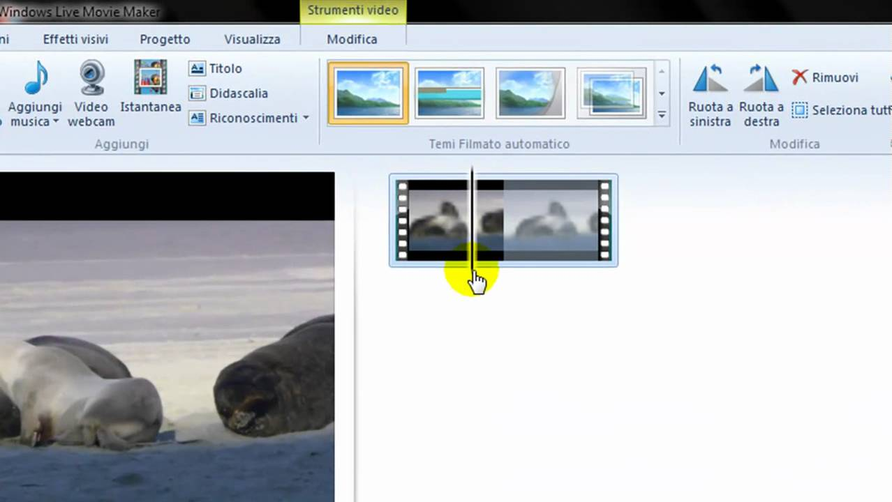 how to cut music in windows live movie maker