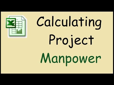 How to calculate manpower required for a project in Excel