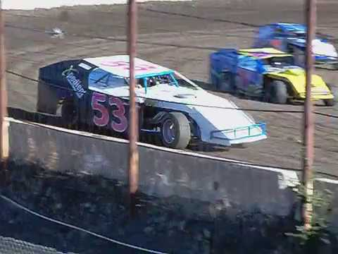 #53 Kelsey Shockey IMCA Modified Practice Barona Speedway 10-21-2017