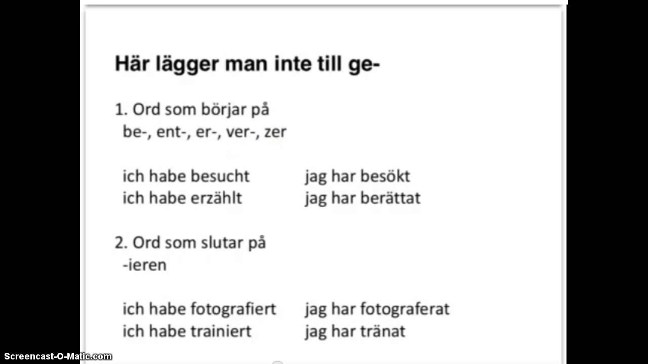Perfekt i tyska