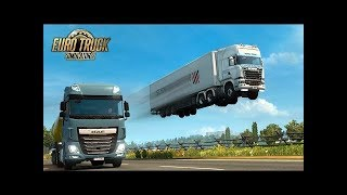 Euro Truck Simulator 2 идиоты ,приколы, фейлы на дороге дураков и не только # 3