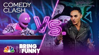 Magician Jarred Fell vs. Puppet Randy Feltface - Bring The Funny (Comedy Clash)