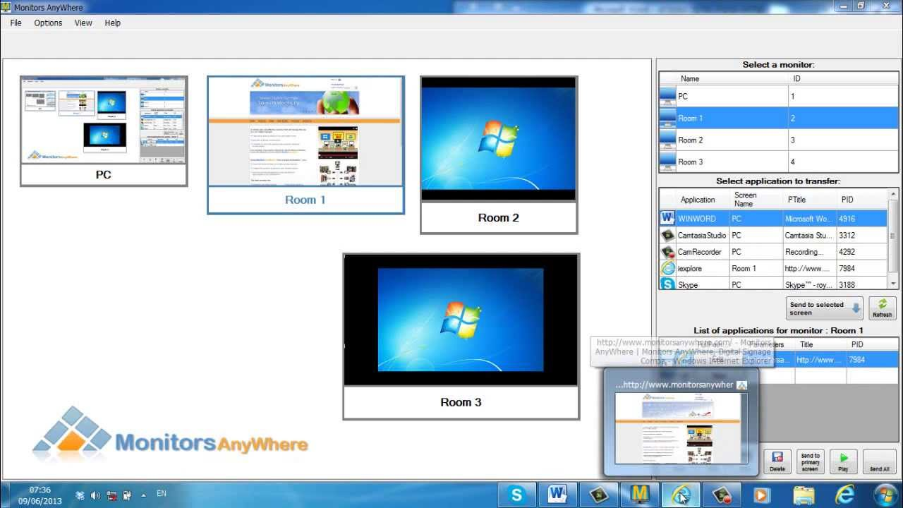 Amazon.com: Monitors AnyWhere - Display your content on multiple ...