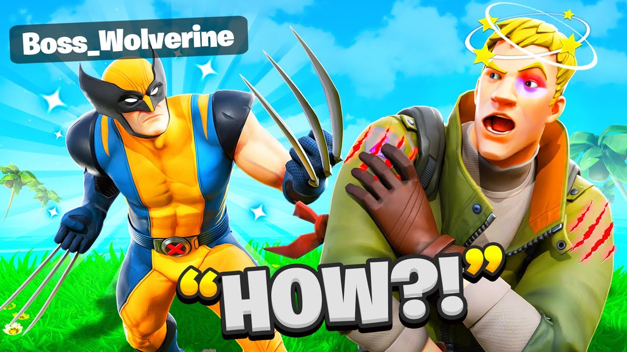 I Trolled Him As BOSS Wolverine In Fortnite... (Wolverine Claws)