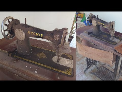 Antique Sewing Machine With Table Restoration