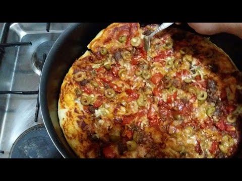 صورة  طريقة عمل البيتزا طريقة عمل البيتزا فى 10دقائق فقط والله أسهل عجينة بيتزا ب3مكونات فقط سر خلطة المطاعم مع مريم يحيى طريقة عمل البيتزا من يوتيوب