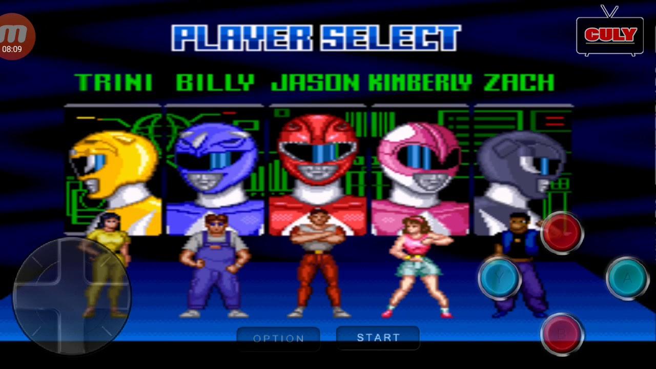 5 Anh Em Siêu Nhân biến hình đánh quái – cu lỳ chơi game power rangers snes