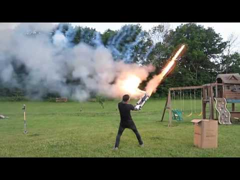 Roman Atwood Homemade Fireball Cannons