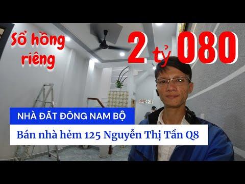 Chính chủ Bán nhà sổ hồng riêng Quận 8 giá 2 tỷ 080, hẻm 125 Nguyễn Thị Tần