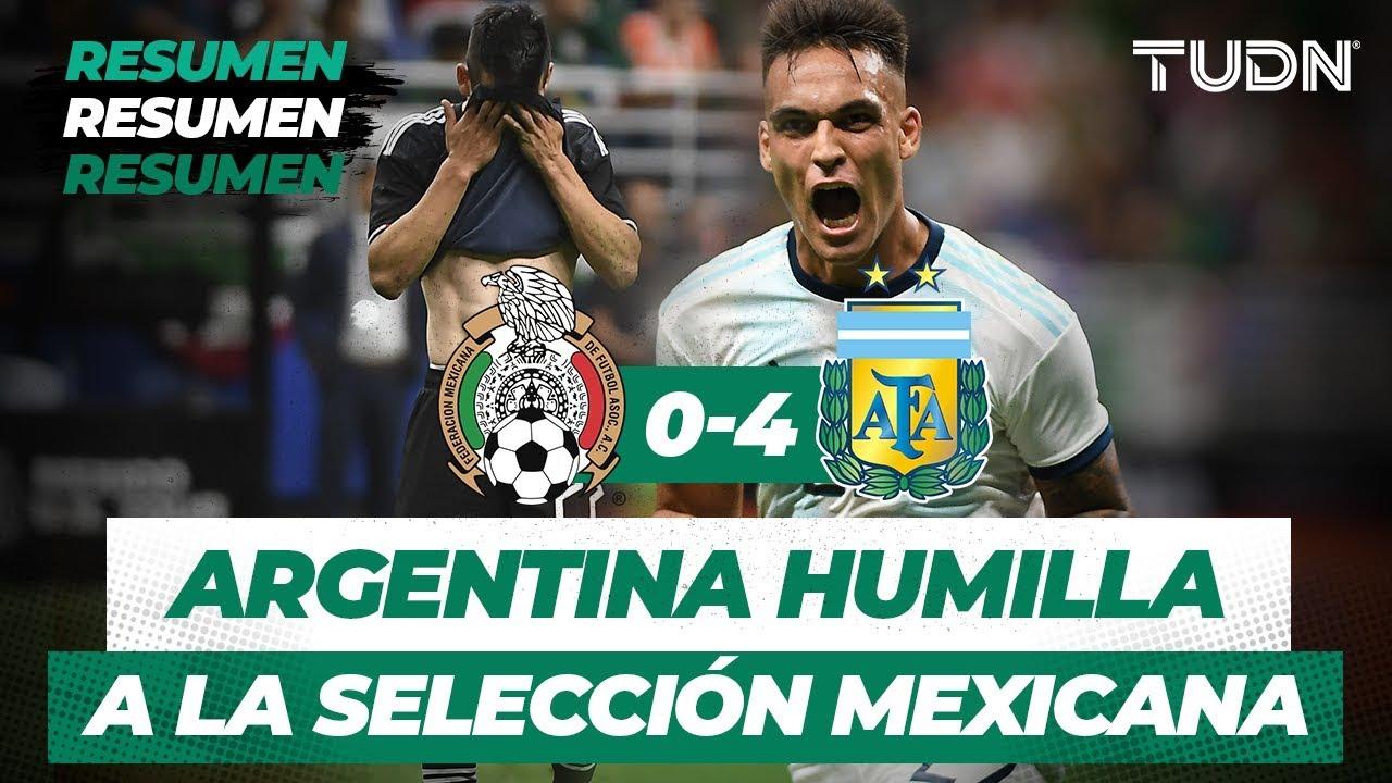 Download Argentina humilla al Tri | Resumen y Goles México 0 -  4 Argentina | Partido Amistoso | TUDN