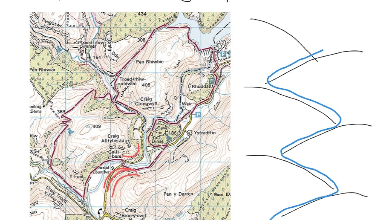 Interlocking spurs on os maps youtube interlocking spurs on os maps pooptronica Choice Image