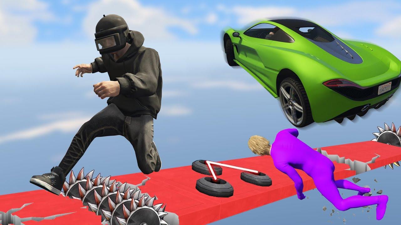 ด่านที่วิ่งอย่างเดียวไม่มีทางผ่านได้(ต้องใช้...ด้วยถึงจะผ่าน?) (GTA 5 Online)