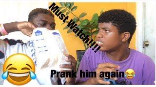 Prank Brandon Again!!!!(Gone Wrong)