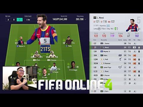 FIFA ONLINE 4: Quẩy Rank Cùng MESSI, VARANE 21TS +5 & Đi Chợ Xây Team MAX BING Nhất   17-07-2021