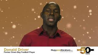 Donald Driver Wishes Hupy and Abraham, S.C. A Happy 50th Anniversary!