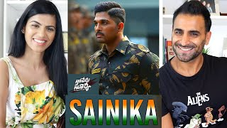 SAINIKA Full Video Song REACTION!!! | Naa Peru Surya Naa illu | Allu Arjun