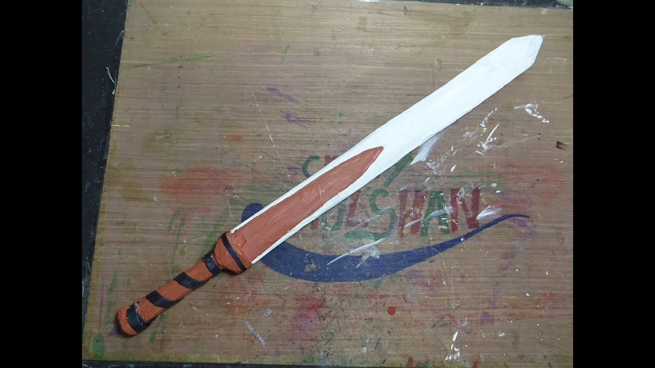 How To Make A Paper Sword Gladius Youtube Origami An Style