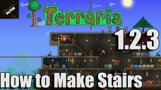 How To Make Stairs Terraria 1.2.3 | Terraria 1.2.3 Gameplay
