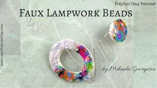 Faux Lampwork Beads [ Polymer Clay Tutorial ]