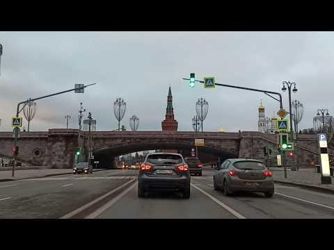. Москва-Тверская-Фрунзенская-Тропарево-Икея. Поездка на автомобиле. 18 января 2020 г.