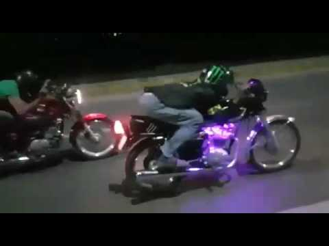 Suzuki GS150SE vs Honda CG125 Race At 130 topspeed