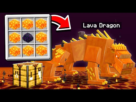 CRAFTING DRAGONS MADE OUT OF ANY BLOCK!