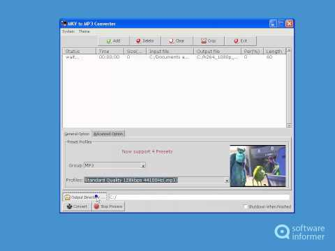 MKV to MP3 Converter video tutorial