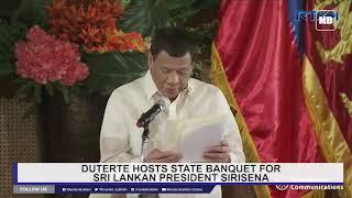 Duterte hosts a state banquet for Sri Lankan President Sirisena Part 1