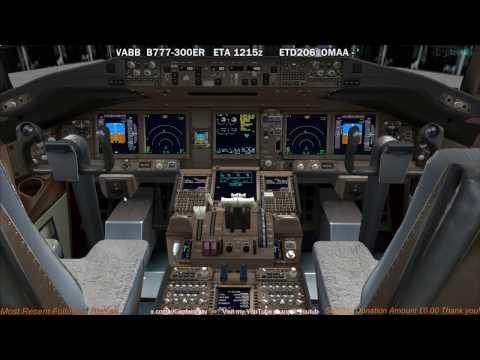 [FSX] PMDG 777-300ER | Abu Dhabi (OMAA) to Mumbai (VABB) Part 1