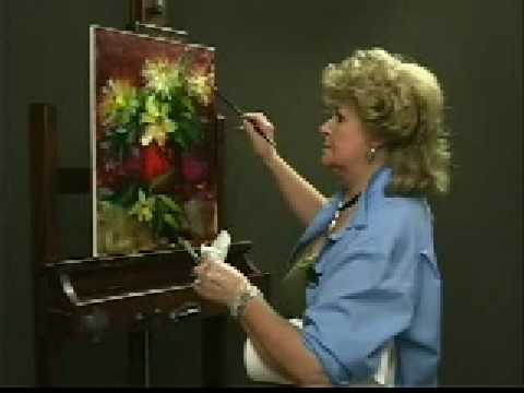 "Hedi Moran ""Lilies"" DVD, Oil on Canvas"
