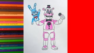 How to draw Funtime Freddy, Как нарисовать Фантайм Фредди
