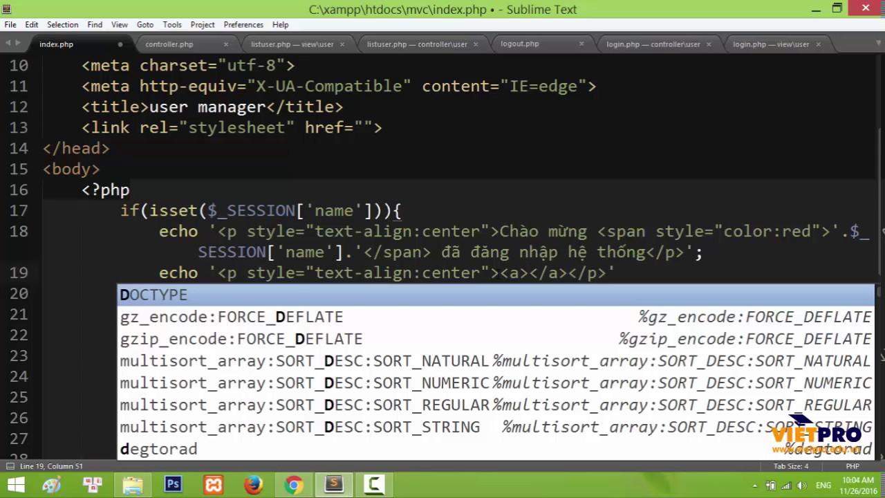 Training PHP MVC: Users manager 03 - Học Lập Trình PHP MVC Miễn Phí