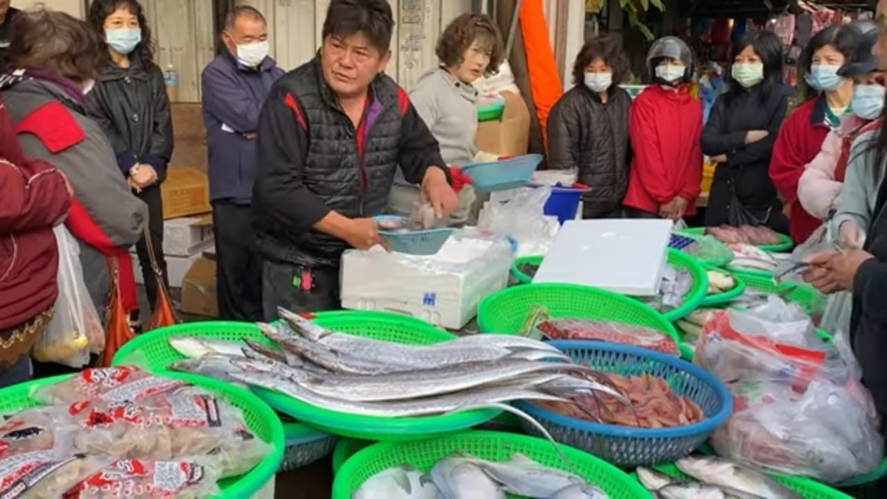 Taiwan Seafood Auction - He is the Best Fish Seller !
