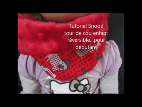 tutoriel snood tour de cou pour enfant couture pour d butant youtube. Black Bedroom Furniture Sets. Home Design Ideas