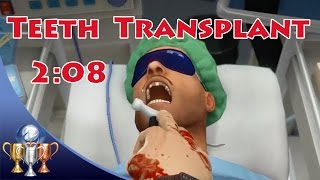 Surgeon Simulator [PS4] - Teeth Transplant A++ Surgery (2:08) You May Feel A Light Tapping Trophy