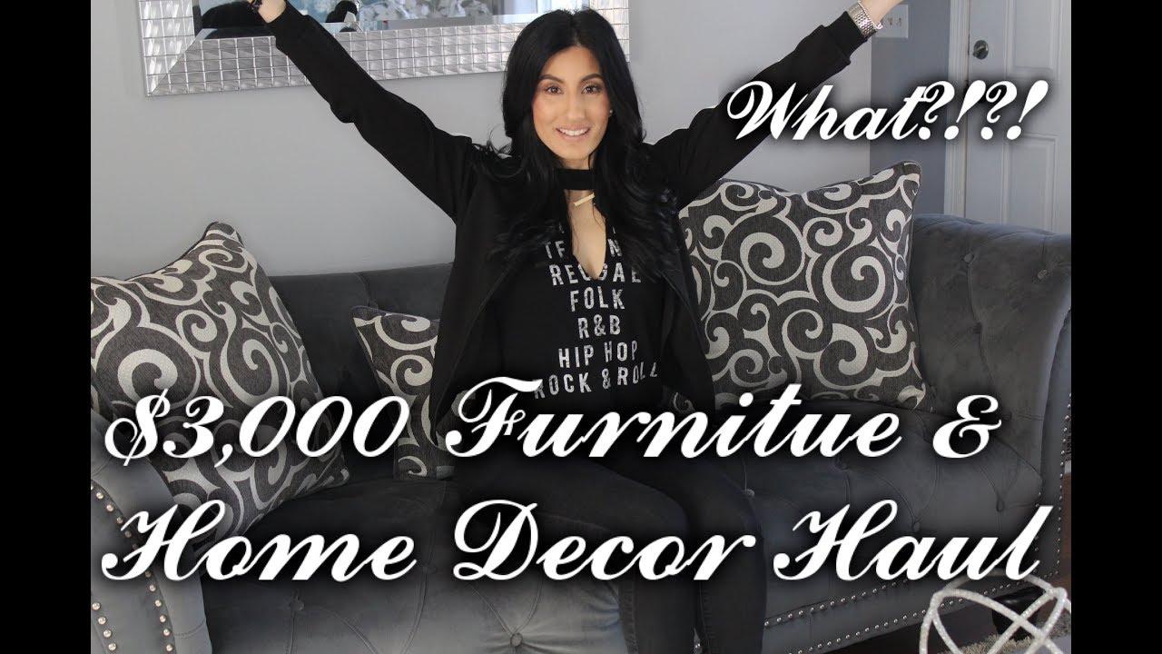 $3,000 FURNITURE U0026 HOME DECOR HAUL!    ZGALLERIE    CARDIS FURNITURE   HOME  GOODS