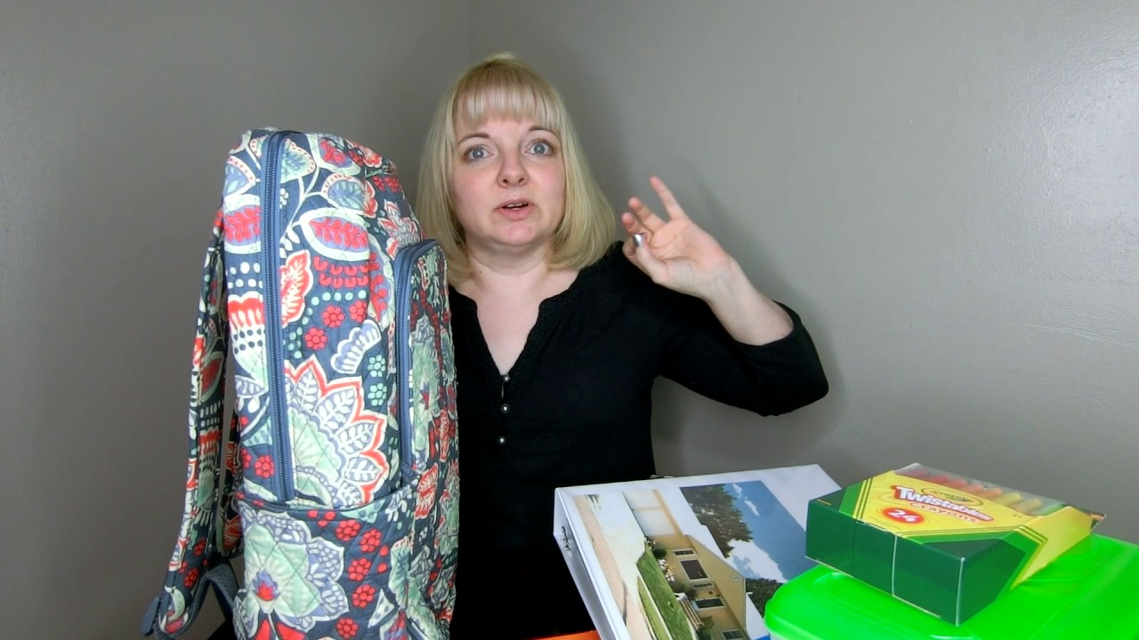 e5be519b16 Which Vera Bradley Backpack is best for school  - YouTube