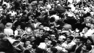 British forces liberate Greece from German occupation and Greek Prime Minister Po...HD Stock Footage
