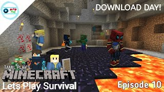 Tamil Play's Minecraft Lets Play Survival - Episode 10 | Download Day