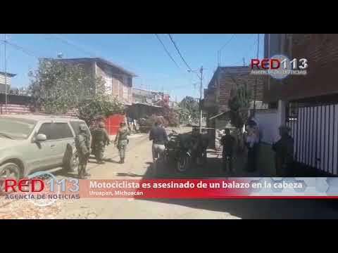 VIDEO Motociclista es asesinado de un balazo en la cabeza en Uruapan
