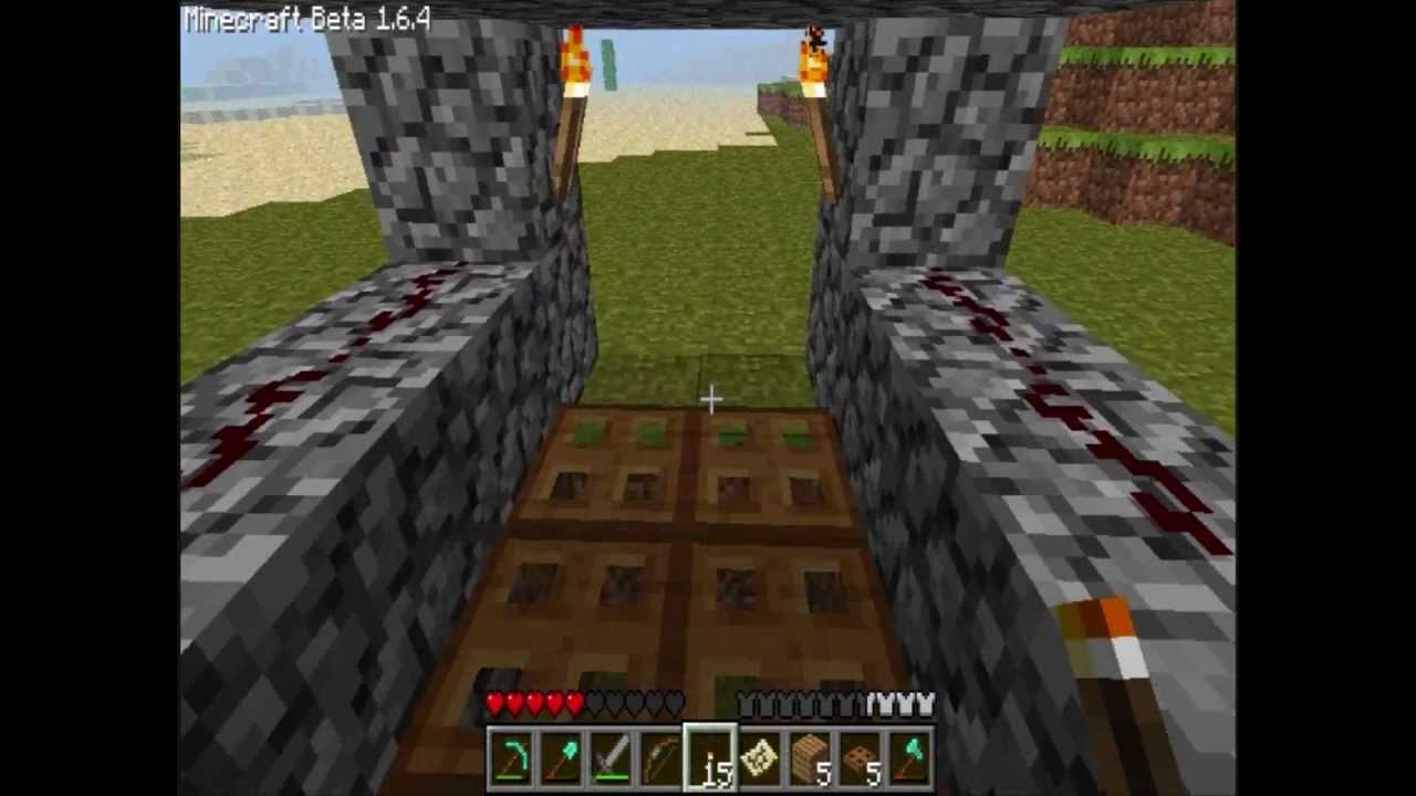how to use a trapdoor in minecraft