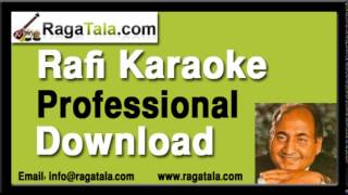 Agar bewafa tujhko pehchaan jate  - Rafi Karaoke - RagaTala