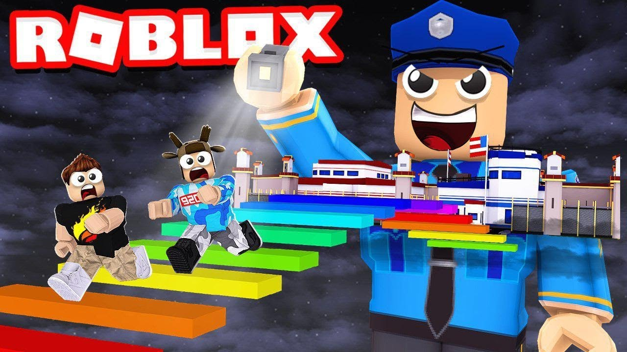 Escape The Prison Obby In Roblox With Moosecraft Youtube