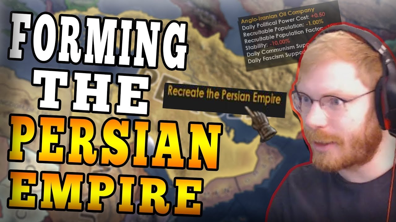 FORMING THE PERSIAN EMPIRE THROUGH DIPLOMACY! HOI4 MP BUT IT'S MODDED  ROLEPLAY! - HOI4 Multiplayer