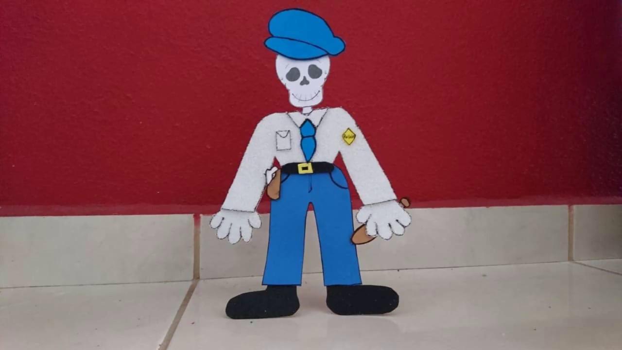 Como Hacer Una Calavera O Esqueleto Vestido De Policía Las Manos Mágicas De Mirna