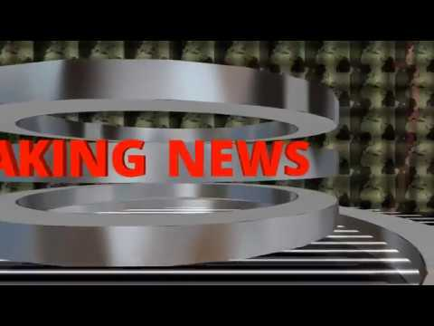 3D Virtual Room Breaking News Green Screen