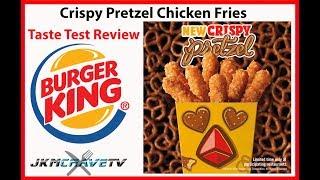 Burger King Crispy Pretzel Chicken Fries Taste Test Review | JKMCraveTV