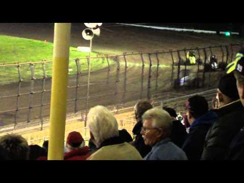Silver Dollar Speedway | USAC Feature 3/11/11-Part 7 (Clauson Wreck)
