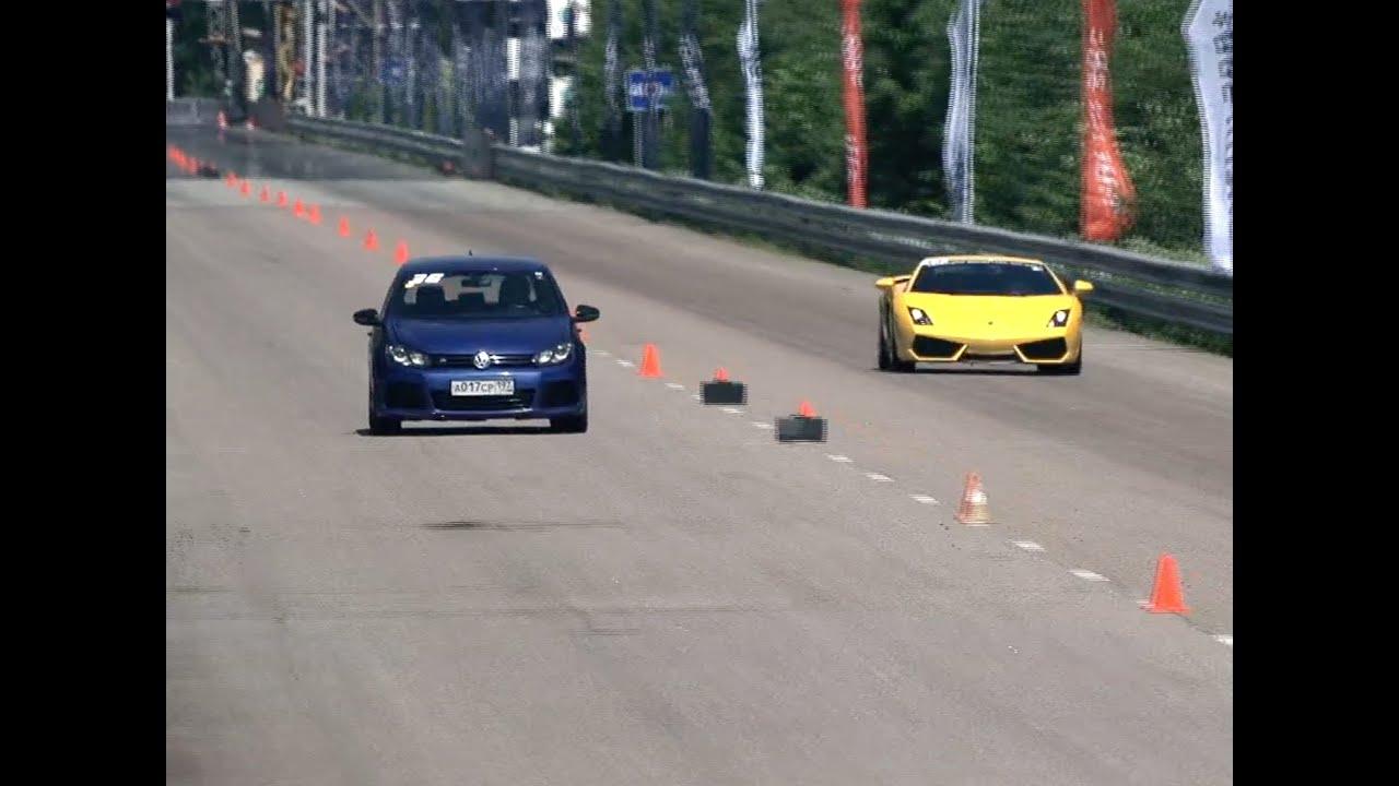 VW Golf R СРЕЩУ BMW M6 И Mercedes CLS 63 AMG, а за десерт Lamborghini Gallardo LP560